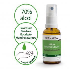 Spray idroalcolcico+ - Espositore 12 pz. - 30 ml | Pranarôm