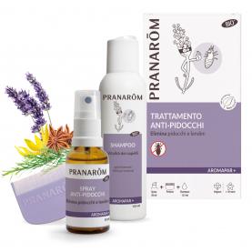 Trattamento anti-pidocchi - Spray + Shampoo + Pettine - 30 + 125 ml | Pranarôm